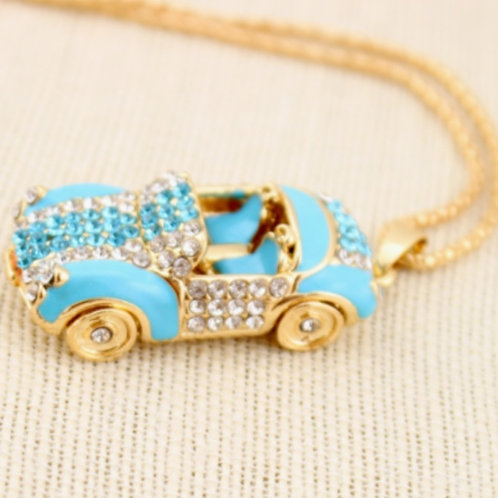 Sports Car Crystal Pendent