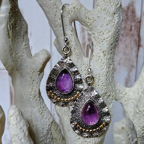 Amethyst Artisan 2-Tone Earrings