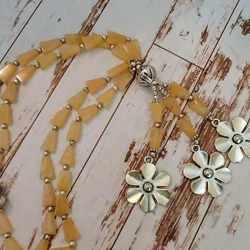 Cream Ghost Quartz Necklace