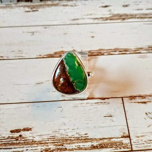 Australian Boulder Chrysoprase Ring