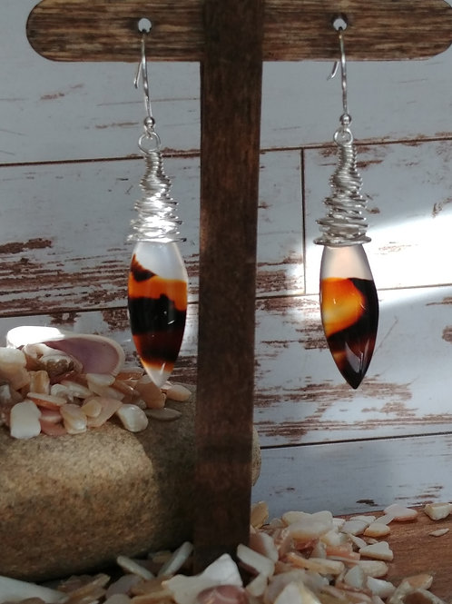Montana Agate Pendulum Earrings