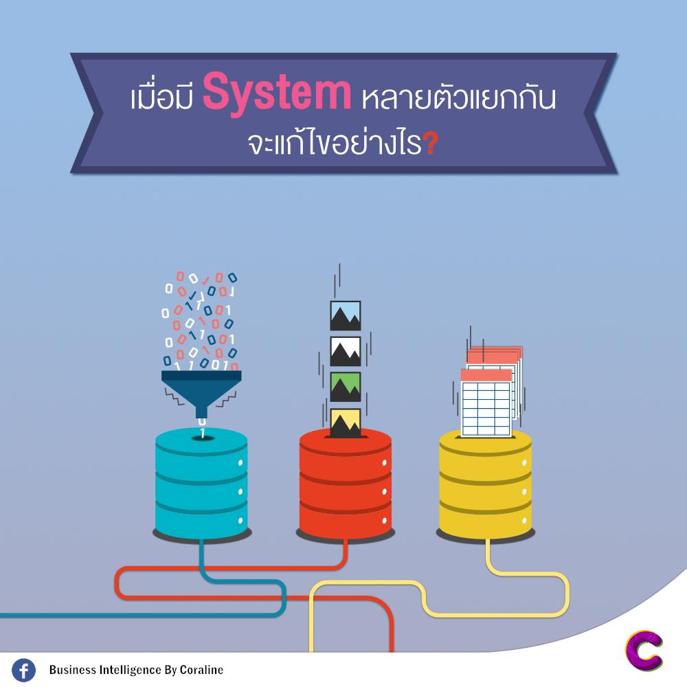 เมื่อมี System แยกกันหลายตัว แก้ไขอย่างไร