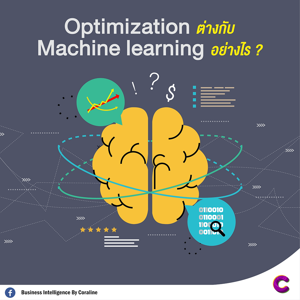 Optimization ต่างกับ Machine learning อย่างไร