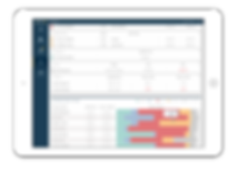 iPad showing employee effectiveness diagrams