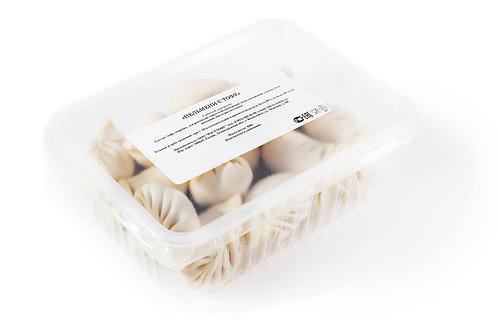 Пельмени с тофу и овощами