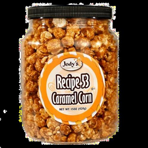 Recipe 53 Caramel Corn Popcorn Jar