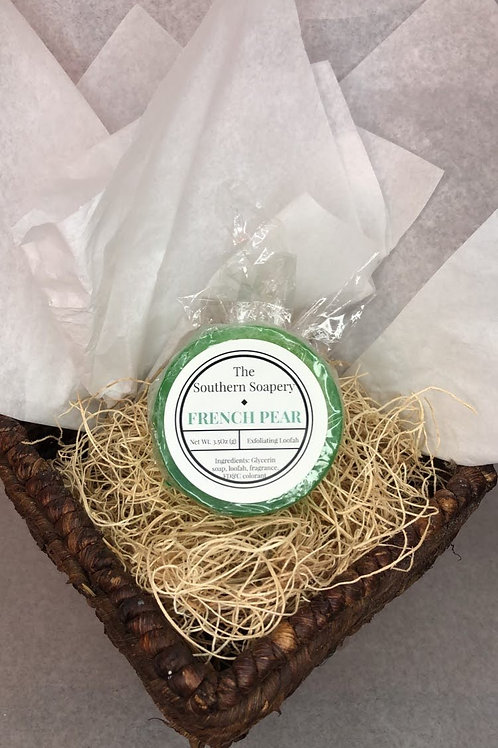 French Pear Loofah Soap