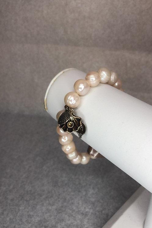 Pearl Seashell Charm Bracelet