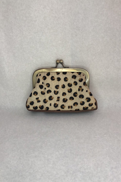 Genuine Leather & Hide Coin Clutch