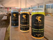 some of our 16oz cans outside in the garden