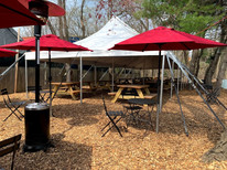 beer garden from the bistro section