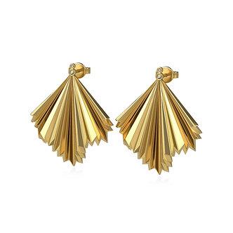 GOLDEN PALM EARSTUDS