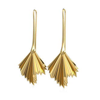 GOLDEN PALM LONG EARRINGS