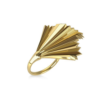 GOLDEN PALM RING