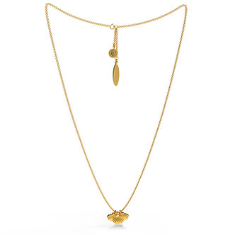 GOLDEN SHELL TRIPLET NECKLACE