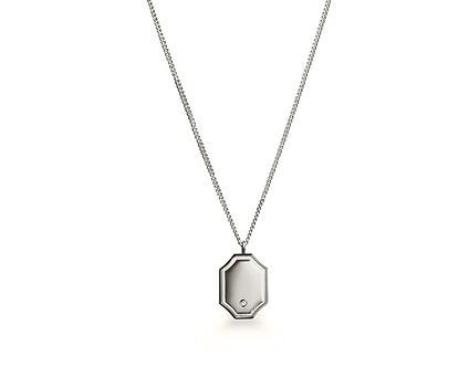 DIAMOND SIGNET NECKLACE