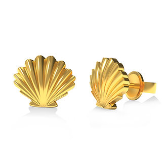 GOLDEN SHELL EARSTUDS