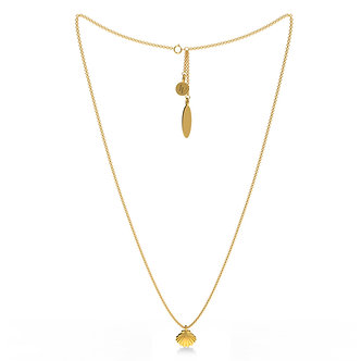 GOLDEN SHELL SINGLE NECKLACE