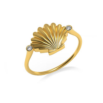 BAGUE COQUILLAGE - OR 14K