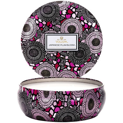 Japanese Plum Bloom 3 Wick Tin Candle