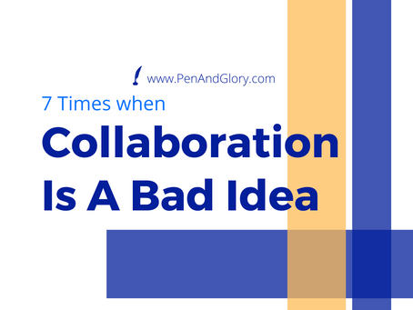 7 Times Author Collaboration Is A Bad Idea