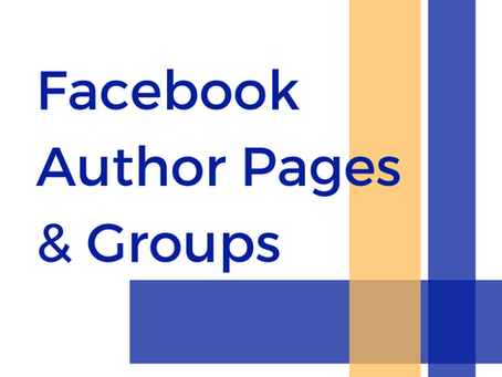 Facebook Author Pages & Groups