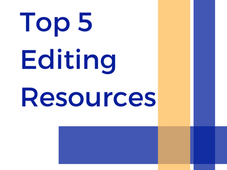 Top 5 Editing Resources for Writers