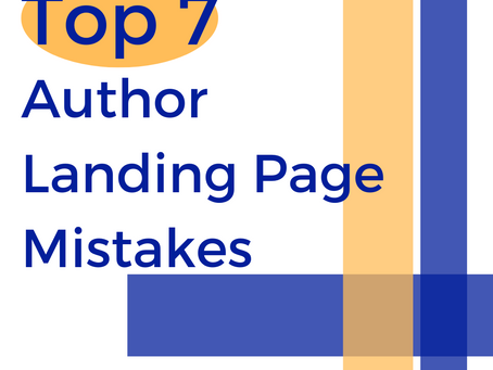 Top 7 Author Landing Page Mistakes