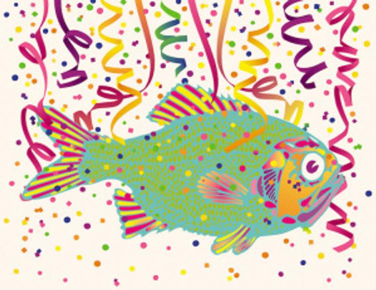 Hey, if confetti fish make it more fun... Image credit: Billy Alexander