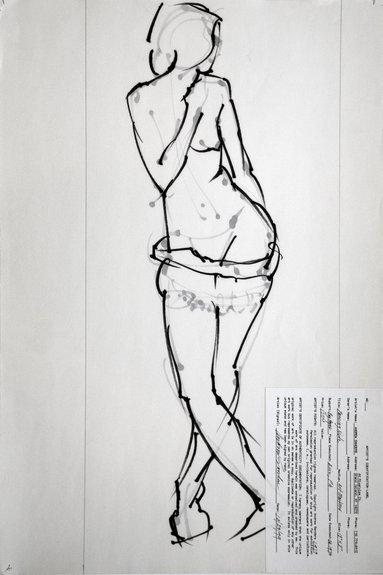 Half Draped Nude No.3