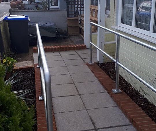 Ramp for wheelchair use