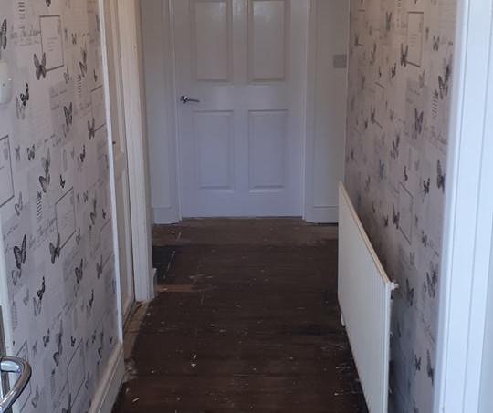 Widened doorways for wheelchair use