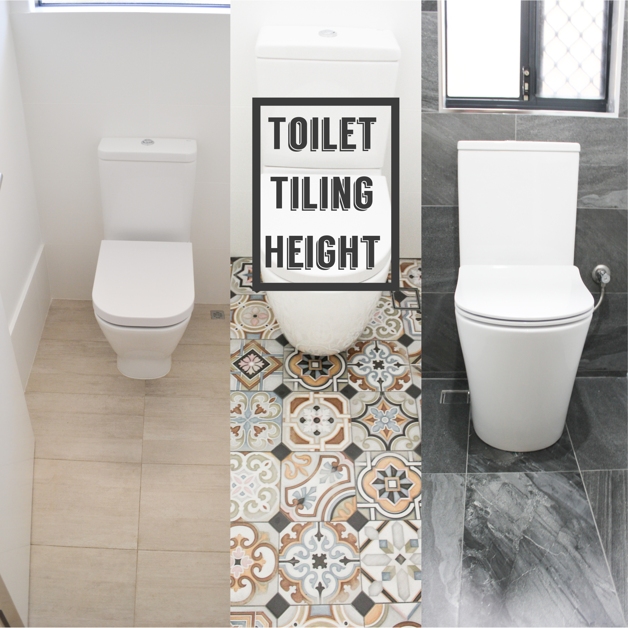 tiling to what height in the toilet bathroom renovations