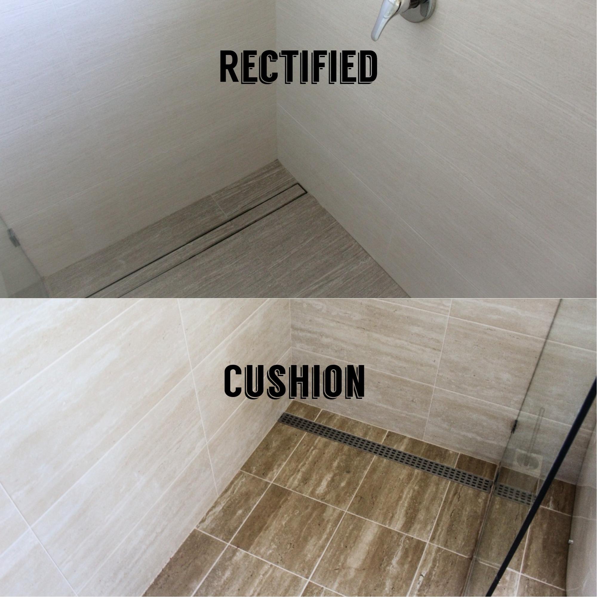 Rectified Tiles Versus Cushion Edge Bathroom Renovations