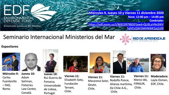 EDF-Chile organiza Seminario Internacional Ministerios del Mar con importantes invitados