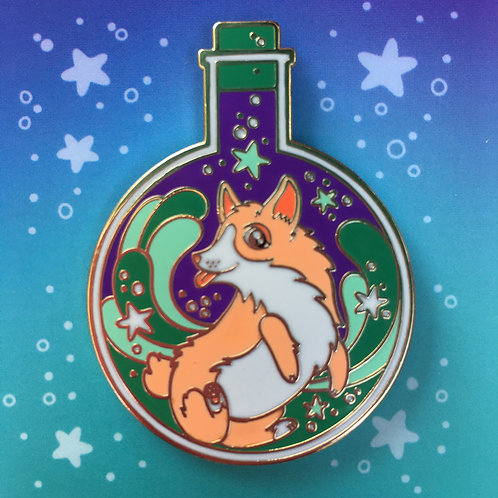 Magical Potion Corgi Enamel Pin