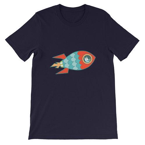 Spaceship Cat Short-Sleeve Unisex T-Shirt