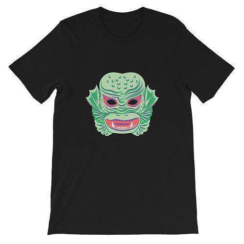 Masquerade Retro Creature Black Short-Sleeve Unisex T-Shirt