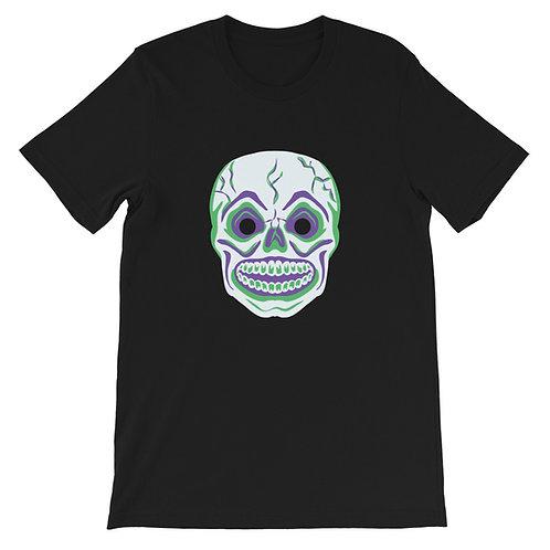 Masquerade Retro Skull Black Short-Sleeve Unisex T-Shirt