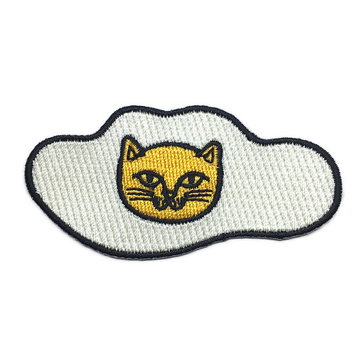 Sunny Side Up Cat Iron-on Patch