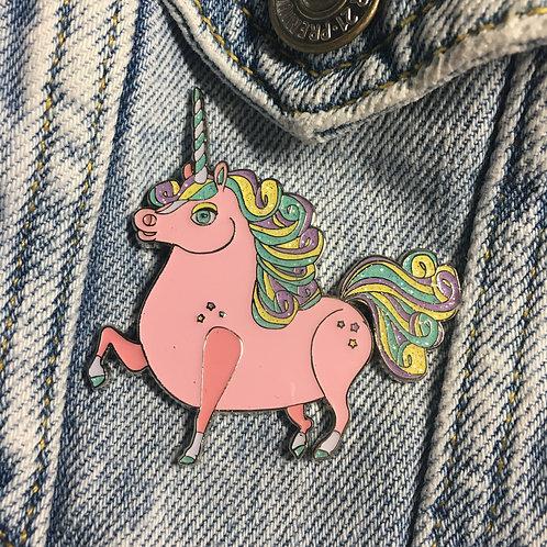 Peach Prancing Ponycorn Enamel Pin