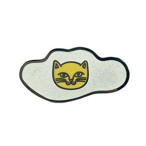 Sunny Side Up Cat Enamel Pin