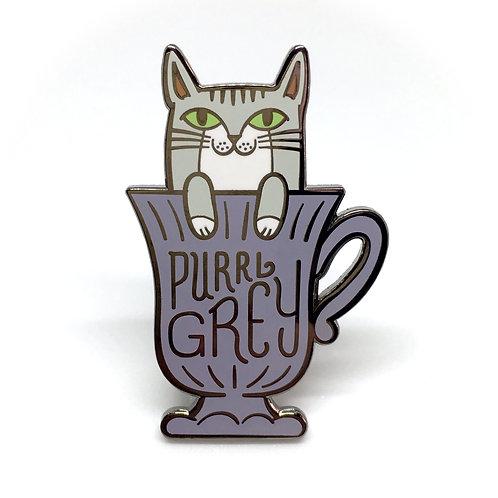 Purrl Grey Enamel Pin