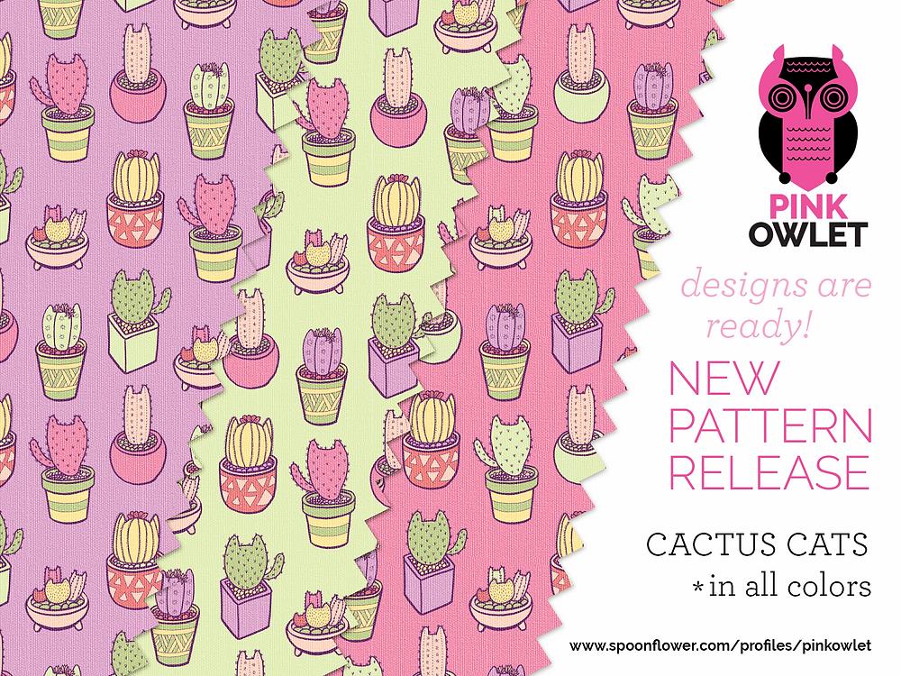 Cactus Cats Pattern!