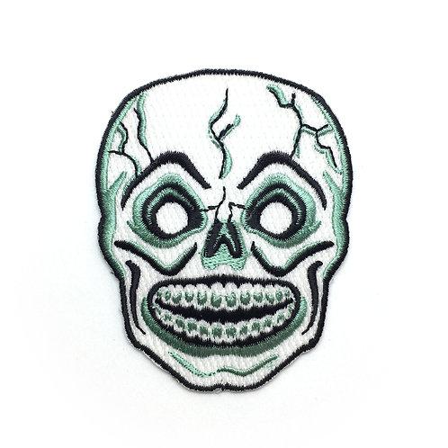 Retro Skull Mask Iron-on Patch