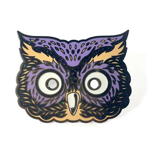 Halloween Masquerade Series 2 - Glitter Owl Enamel Pin