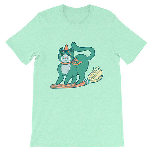 Teal Kitty Witch Short-Sleeve Unisex T-Shirt