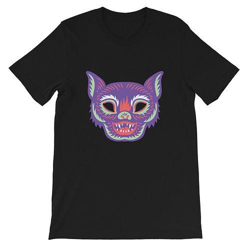 Masquerade Retro Bat Black Short-Sleeve Unisex T-Shirt