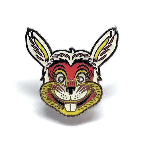 Creepy Bunny Halloween Masquerade Enamel Pin