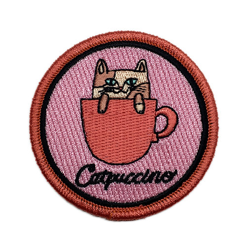 Catpuccino Iron-on Patch